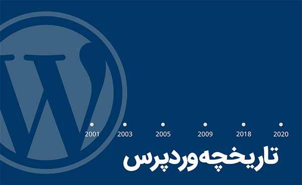 تاریخچه وردپرس - اروم وب